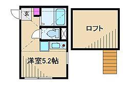 G・Aヒルズ日吉・井田[1階]の間取り