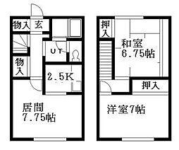 北海道札幌市清田区平岡五条3丁目の賃貸アパートの間取り