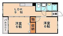 福岡県福岡市南区長丘3丁目の賃貸マンションの間取り