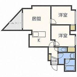 スカイアヴェニュー広和No15[9階]の間取り