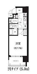 Osaka Metro谷町線 谷町六丁目駅 徒歩8分の賃貸マンション 11階1Kの間取り