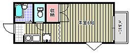 ドルフG8 B棟[2階]の外観