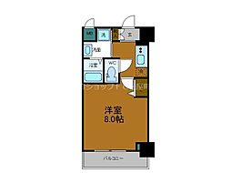 Osaka Metro千日前線 鶴橋駅 徒歩2分の賃貸マンション 2階1Kの間取り