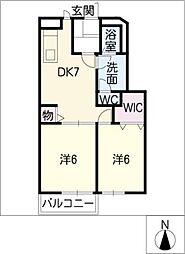 ブルーメ[1階]の間取り