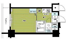 アヴァンティーク銀座2丁目参番館 3階1Kの間取り