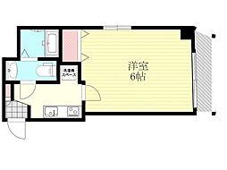 阪急宝塚本線 十三駅 徒歩8分の賃貸マンション 7階1Kの間取り
