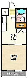 エクセル竹田[502号室]の間取り
