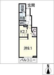 オーブII[1階]の間取り