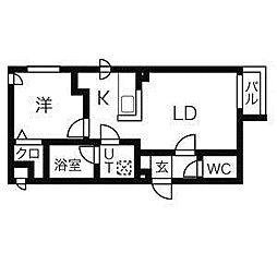 リュクス菊水[2階]の間取り