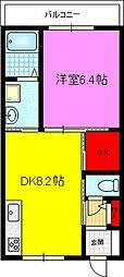 シャーメゾン灰塚 B棟[2階]の間取り