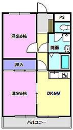 宮本マンション[2階]の間取り