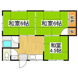 [一戸建] 長野県松本市筑摩 の賃貸【/】の間取り