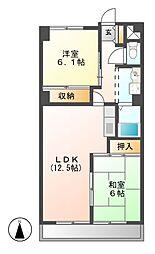 サンマンションチェリー[6階]の間取り