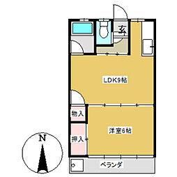 シャトー大塚[101号室]の間取り