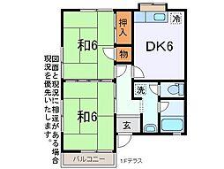 ハイツ矢崎[2階]の間取り