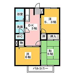 シティハイツマロン[1階]の間取り