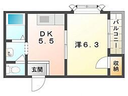 メゾン・ホーク[3階]の間取り