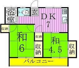 第二みのりコーポ[2階]の間取り