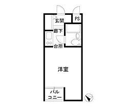 荒井マンションBALMY248[2階]の間取り