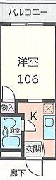 クリオ新子安弐番館[106号室]の間取り
