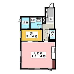 ルグランフォート[1階]の間取り