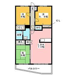 ハイクオリティIII[3階]の間取り