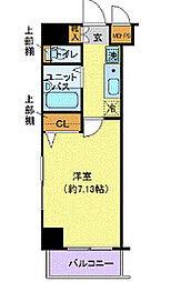 東京都中央区日本橋大伝馬町の賃貸マンションの間取り