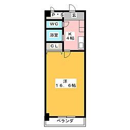 ファーブルハイム[3階]の間取り