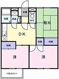 エルディム鶴川[2階]の間取り