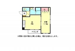 愛知県一宮市浅野字大西東の賃貸アパートの間取り