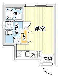 神奈川県横浜市鶴見区矢向6丁目の賃貸マンションの間取り