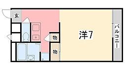兵庫県姫路市城東町毘沙門の賃貸アパートの間取り