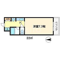 ロイヤルレジデンス岡崎[3階]の間取り