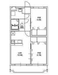 エクレール 3[205号室]の間取り