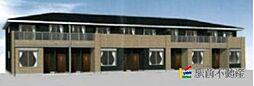 福岡県筑後市大字上北島の賃貸アパートの外観