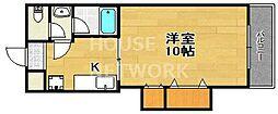 ハイツSAWARAGI[102号室号室]の間取り