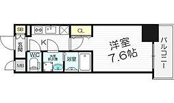 レジュールアッシュ梅田LUXE[4階]の間取り