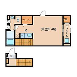 静岡県静岡市清水区辻5丁目の賃貸アパートの間取り