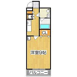 メゾン・マリゼッタII[1階]の間取り