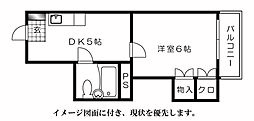 第5シモビル[902号室]の間取り
