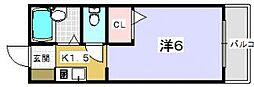 ソラーレ中宮[103号室]の間取り