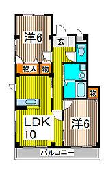 フェデラル/シャントルー[3階]の間取り