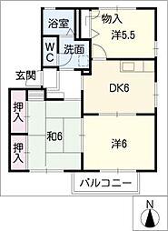 ウィズテリアスB棟[1階]の間取り