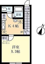 SOYA HOUSE 2階1Kの間取り