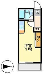 アイビスレジデンス西生田[103号室]の間取り
