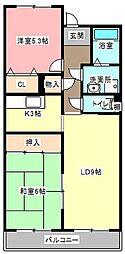 北川原ロビスト[3階]の間取り