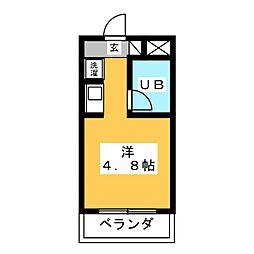 コンフォールまきの[3階]の間取り