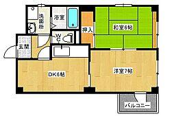 エスポールシバタ[2階]の間取り