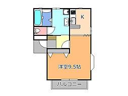インティアマウンテンB棟[2階]の間取り