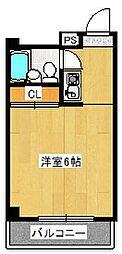 パレス桃山[4階]の間取り